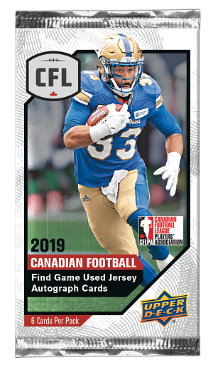 2019 Upper Deck CFL Trading Cards (6-card package)