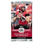 2017 Upper Deck CFL (6-card package)