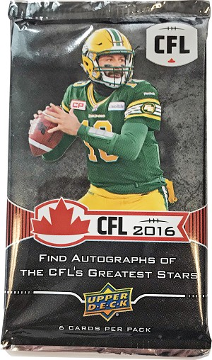 2016 Upper Deck CFL (6-card package)